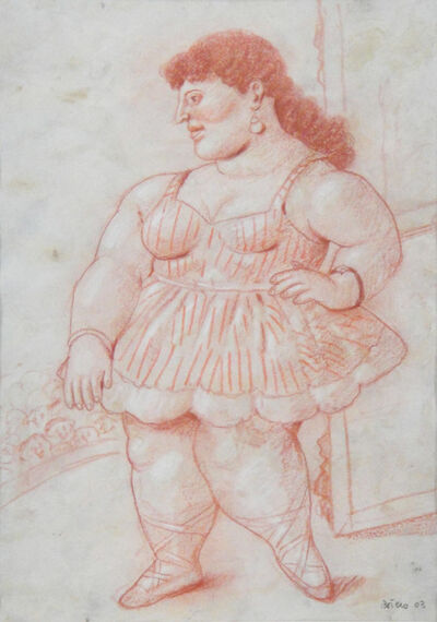 Fernando Botero, 'Red woman figure', 2003