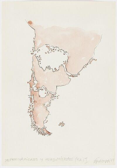 Horacio Zabala, 'Deformaciones y hundimientos (RA) I', 1974