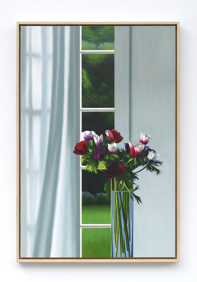 Bruce Cohen, 'Interior with Anemones and Curtain', 2019
