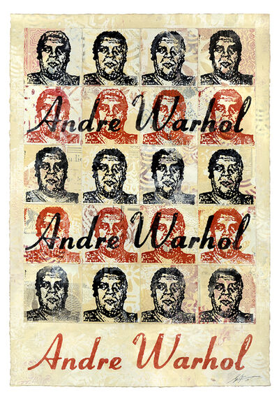 Shepard Fairey, 'Andre Warhol (Cream)', 2019
