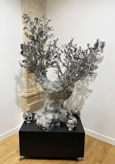 Philippe Pasqua, 'olive tree with butterflies and skulls', 2020