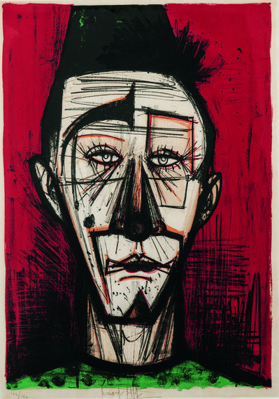 Bernard Buffet, 'Clown blanc, from Mon Cirque', 1968