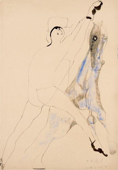 Marino Marini, 'Cavalier con Cavaliere', 1947