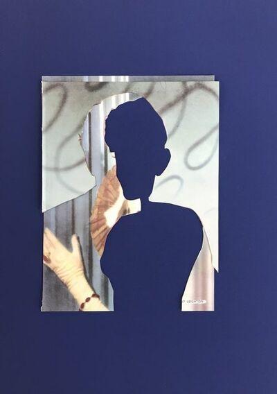 John Stezaker, 'L'Heure Bleue (Blue Double Shadow) VII', 2020