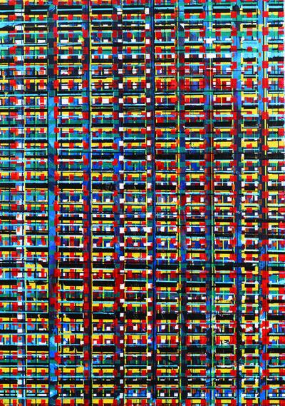 Marko Ladjušić, 'Megastructure Blue Solitaire', 2019