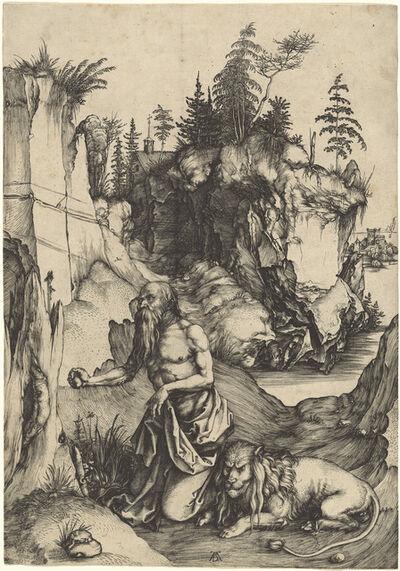 Albrecht Dürer, 'Saint Jerome Penitent in the Wilderness', ca. 1496
