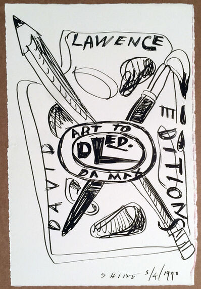 Peter Shire, 'David Lawrence Editions Design for Logo #4 Original Drawing, HOLIDAY SALE TAKE 20% OFF NEXT THREE WEEKS', 1990
