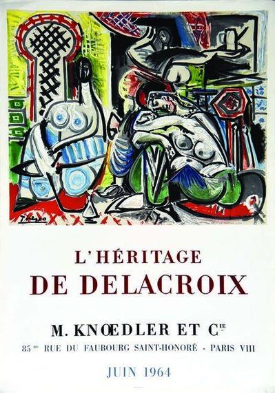Pablo Picasso, 'L'Heritage De Delacroix', 1964