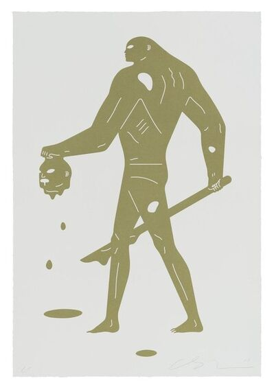 Cleon Peterson, 'Headless Man (Gold & White)', 2019