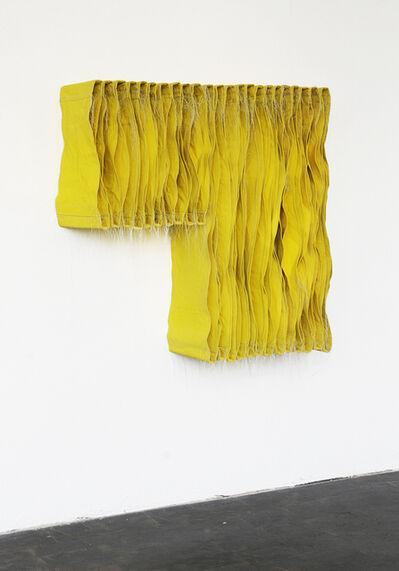 Simon Callery, 'Lemon Yellow Wallspine', 2017