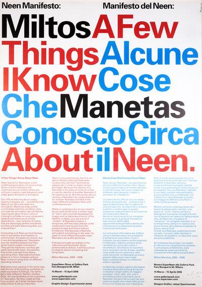 Miltos Manetas, 'The Neen Manifesto', 2006