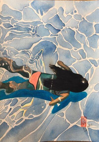 Brigitte Yoshiko Pruchnow, 'Pink bikini water colour', 2017