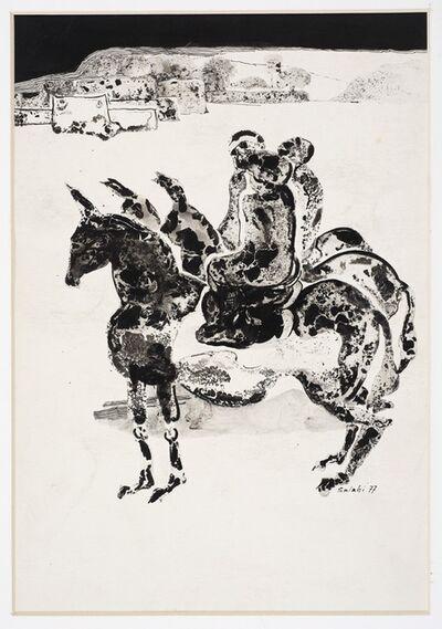 Ibrahim El-Salahi, 'Illustration no. 1 for Tayeb Salih's novel Maryoud', 1977
