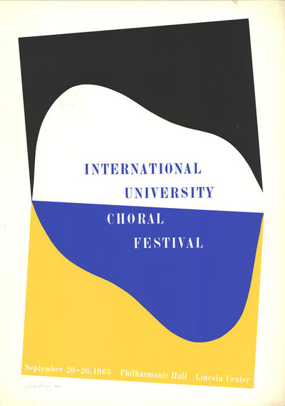 Charles Hinman, 'International University Choral Festival', 1965