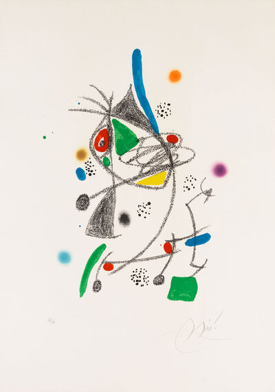 Joan Miró, 'UUntitled from Wonders with Acrostic Variations in the Garden of Miró', 1975