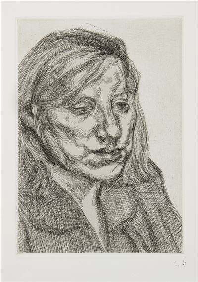 Lucian Freud, 'Head of Ib', 1988