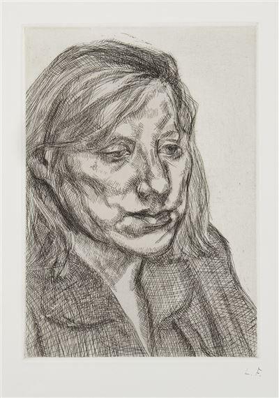 Lucian Freud, 'Head of Ib', 1988