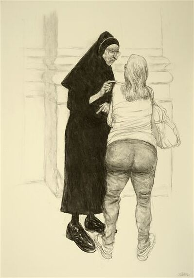 Pat Oliphant, 'Nun: The Lecture', 2012