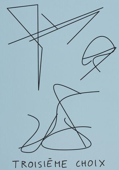 Claude Closky, 'Troisième choix (bleu ciel) (c)', 2020