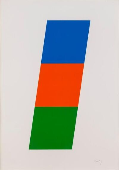 Ellsworth Kelly, 'Blue, Red-Orange, Green', 1970-1971