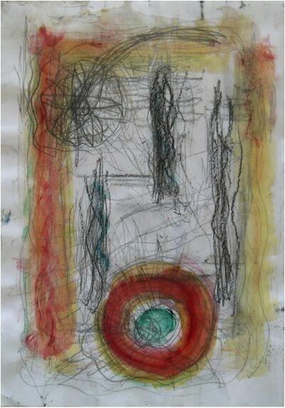 Norbert Prangenberg, 'Untitled (red circle)', 1986-1991