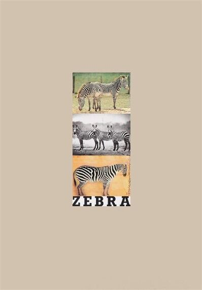 Peter Blake, 'Z is for Zebra', 1991