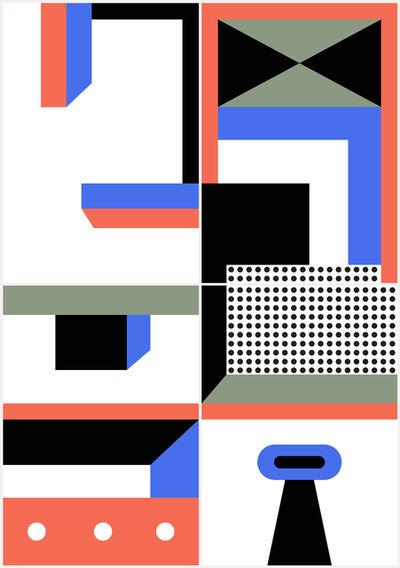 Nathalie Du Pasquier, 'Connected 1-4', 2018