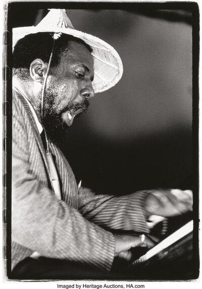 Herb Snitzer, 'Paul Gonsalves; Nina Simone (Philadelphia); Thelonious Monk (Randall's Island) (three photographs)', 1962; 1959; 1959