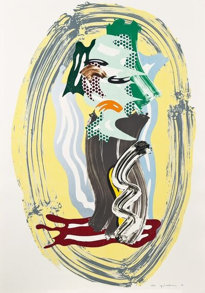 Roy Lichtenstein, 'Green Face from Brushstroke Figure Series', 1989
