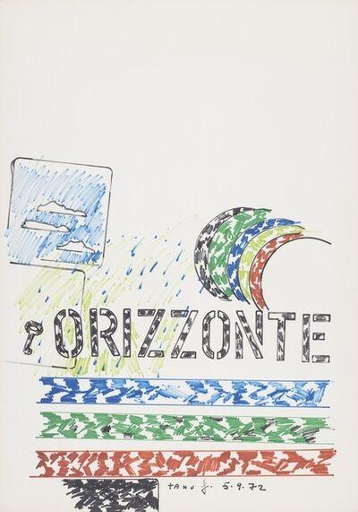 Tano Festa, 'Horizont', 1972