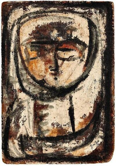 Paul Butschowitz, 'Untitled, Expressionist Brutalist Portrait', 20th Century