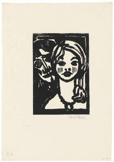 Emil Nolde, 'Mann und junges Mädchen', 1925