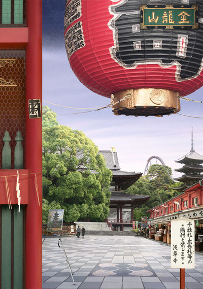 Emily Allchurch, 'Tokyo Story 8: Temple (After Hiroshige)', 2011