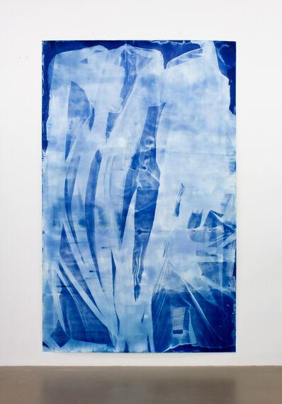Ulla von Brandenburg, 'Vorhang Blau 8', 2019