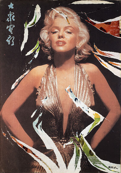 Mimmo Rotella, 'Marilyn in Cina', 2003