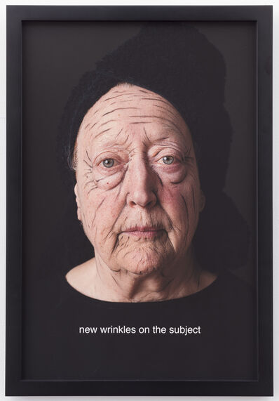 Martha Wilson, 'new wrinkles on the subject ', 2014
