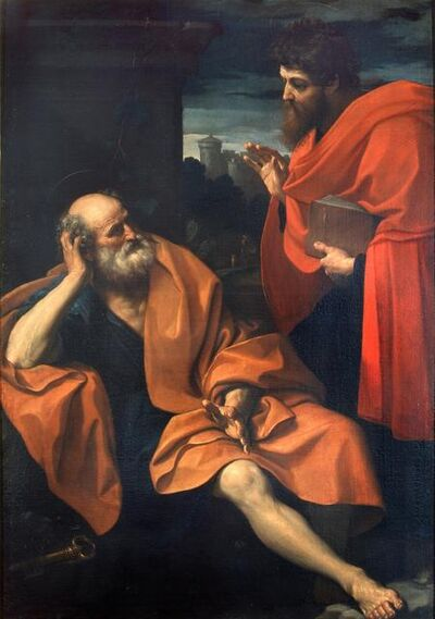 Guido Reni, 'Paul Rebukes Peter', 1609