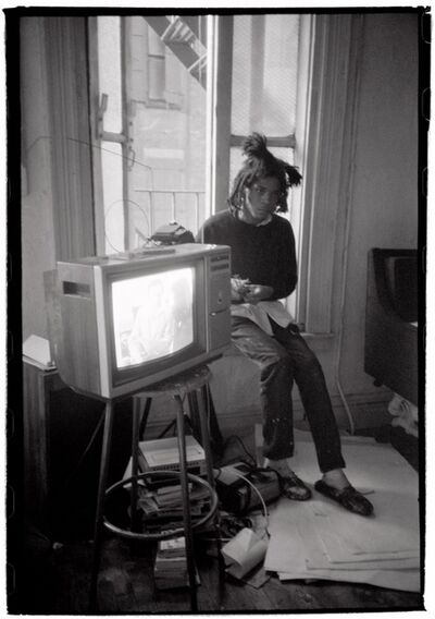 Roland Hagenberg, 'Basquiat with TV Set', 1983