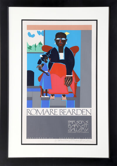Romare Bearden, 'Mother and Child, Exhibition at Betty Parsons Gallery', 1980