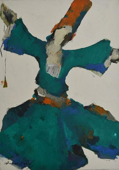 Ammar Alnahhas, 'Green Dervish dancing', 2019