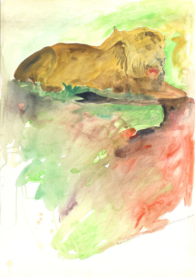 Franco Angeli, 'Lion'