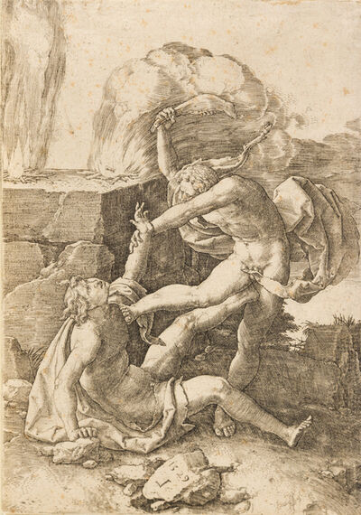 Lucas van Leyden, 'Cain Killing Abel, 1529; The Temptation of Saint Anthony, 1509; Mary Magdalen in the Desert, c. 1506 (a group of 3)'