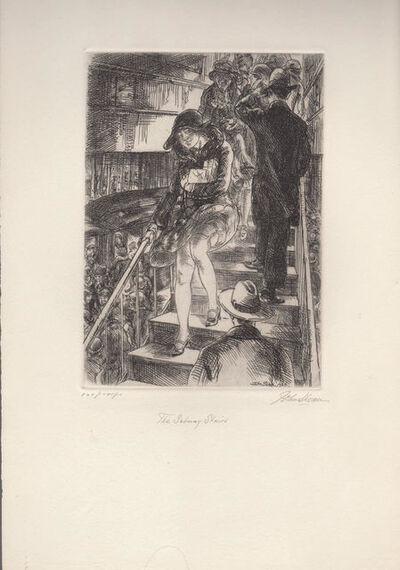 John Sloan, 'Subway Stairs', 1926