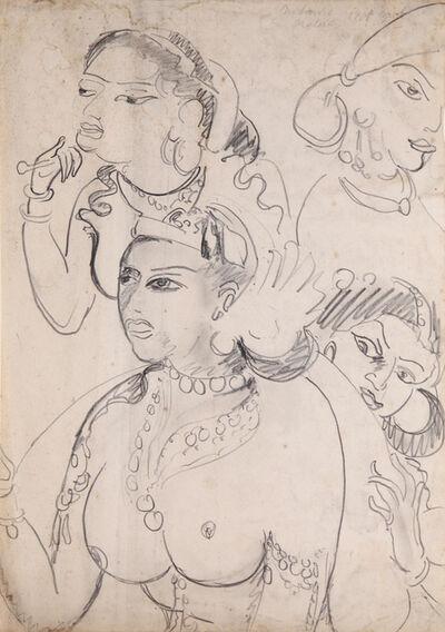 Ernst Ludwig Kirchner, 'Königin Sivali und ihre Dienerinnen', ca. 1910