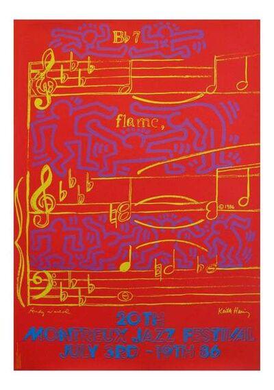 Keith Haring, 'Warhol Haring Montreux Jazz poster', 1986