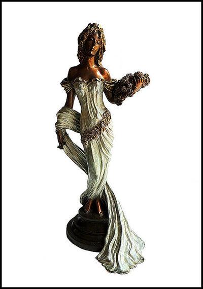 Ira Reines, 'Ira Reines Original Bronze Sculpture Female Figurative Signed Deco Artwork SBO', 1988