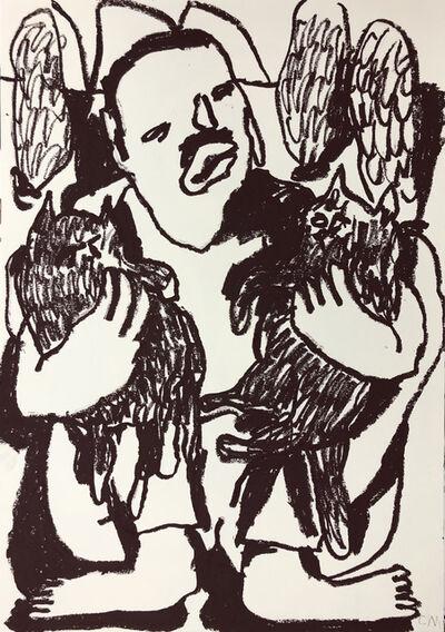 Conny Maier, 'FREDDY MERCURY MIT KATZEN', 2019