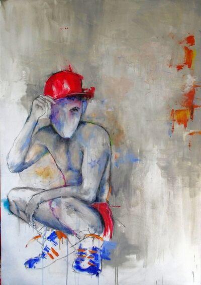 Laurent Bergues, 'Casquette rouge', 2017