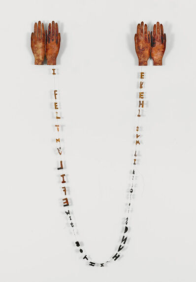 Lesley Dill, 'Copper Poem Hands', 1994