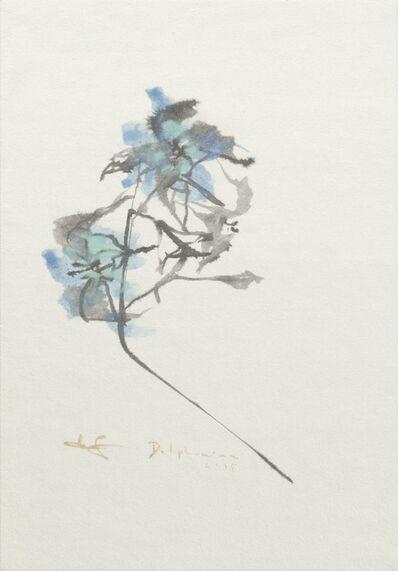 Makoto Fujimura, 'Delphiniums 飛燕草', 2018